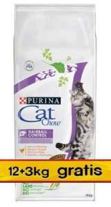 Purina Cat Chow Special Care Hairball Control 15kg (12+3kg gratis)