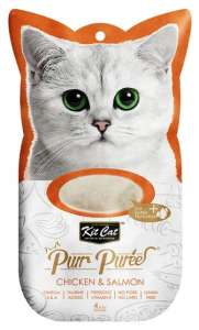 Kit Cat PurrPuree Chicken & Salmon 4x15g