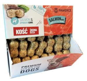 Pawerce Salmon Bone Medium Breeds display 24x55g