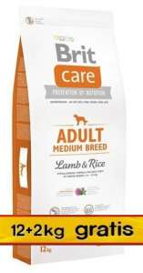 Brit Care New Adult Medium Breed Lamb & Rice 14kg (12+2kg gratis)