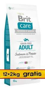 Brit Care Grain Free Adult Salmon & Potato 14kg (12+2kg gratis)
