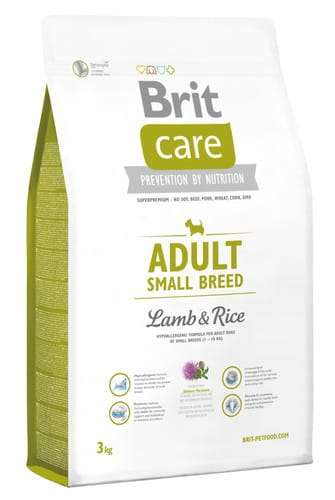 6828Brit Care New Adult Small Breed Lamb & Rice 3kg-1