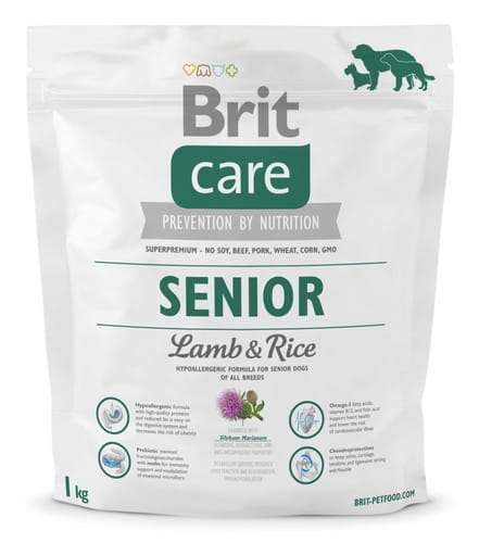 6830Brit Care New Senior Lamb & Rice 1kg-1