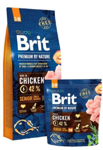 6891Brit Premium By Nature Senior S+M Small + Medium 1kg-1