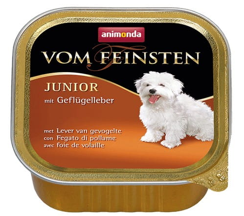 7018Animonda vom Feinsten Dog Junior Wątróbka drobiowa 150g-1
