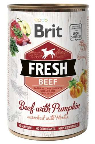 7566Brit Fresh Dog Beef with Pumpkin puszka 400g-1