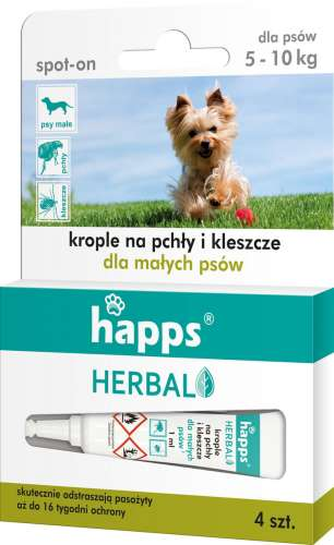 HAPPS HERBAL spot-on krople na pchly i kleszcze male psy (do 10kg) (KJ) - 5904517206366 - 27.11.18.jpg