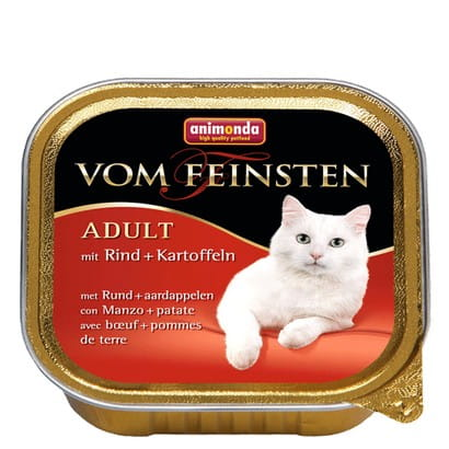 5718Animonda vom Feinsten Cat Adult z Wołowiną i Ziemniakami tacka 100g-1