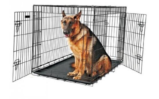 Klatka dla psa drybed GRATIS dogo cage czarna plastikowa taca   107 x 70 x 79 CM (2 drzwi)