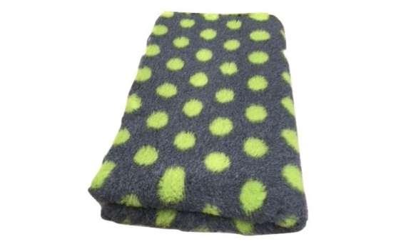 Posłanie VET BED szary w zielone kropki 100x75